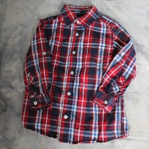 Tommy Hilfiger red/white/blue plaid button down